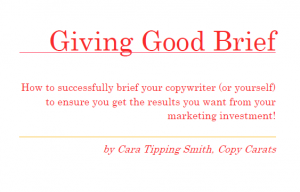 How to write an effective brief to make more of your marketing investment