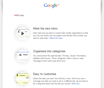 Changes from Google